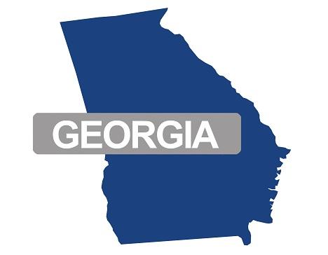 georgia map with name
