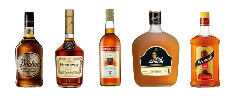 top 5 best selling brandy brands in the world