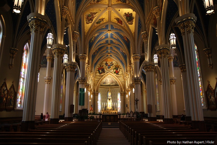basilica of the- sacred heart in notre dame
