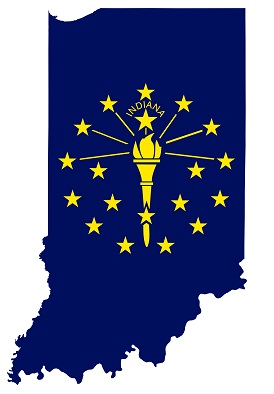indiana flag map
