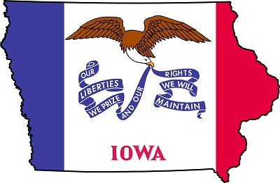 iowa flag map