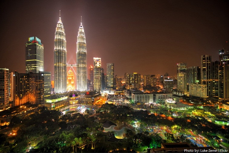 petronas towers and klcc park