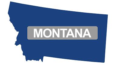 montana map flag