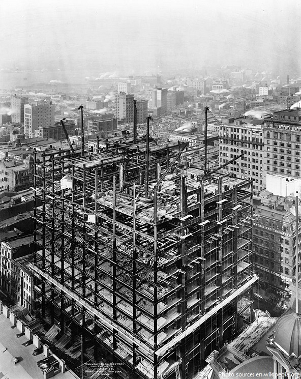woolworth building construction