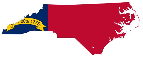 north carolina map flag
