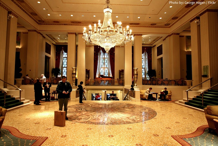 waldorf astoria entrance lobby