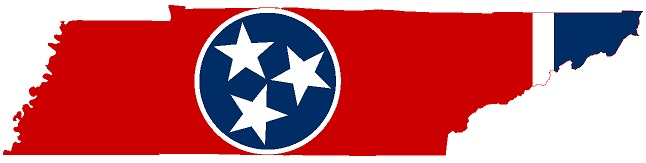 flag map of tennessee