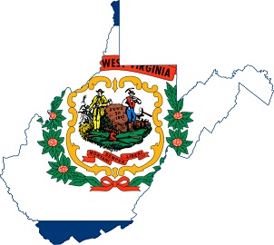 west virginia map flag