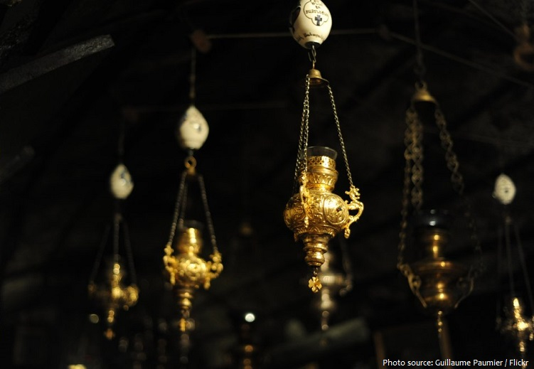 Church of the Nativity sanctuary lamps