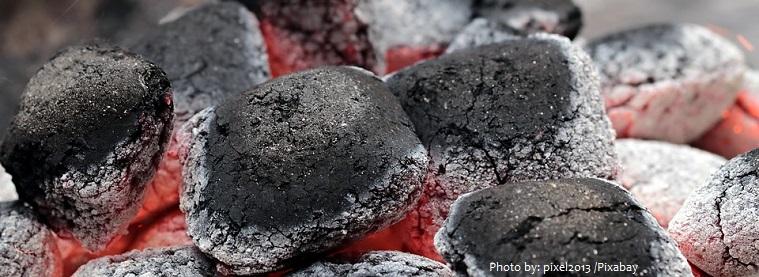 charcoal fire