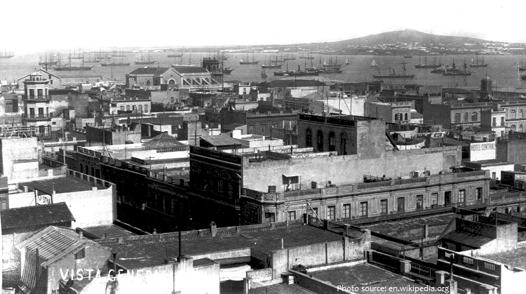 montevideo old photo 1865