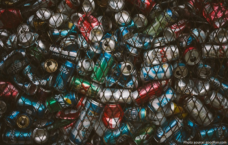 cans for recycling