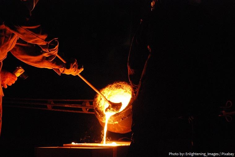 melting metal