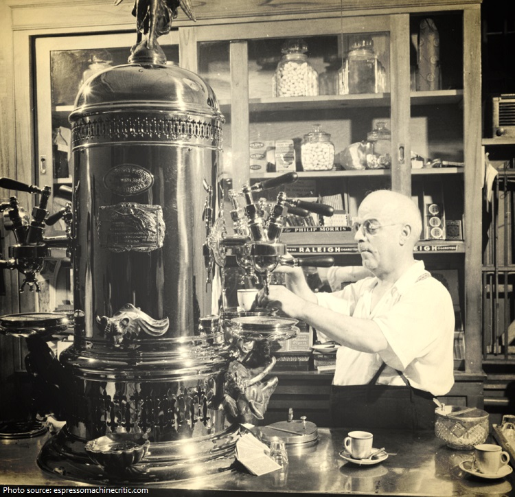 old espresso machine