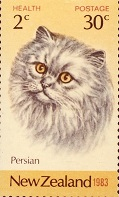 persian cat stamp