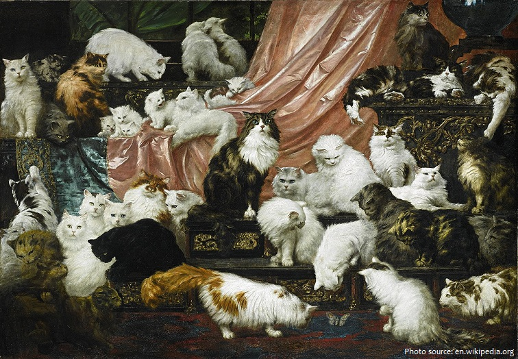 persian cats painting