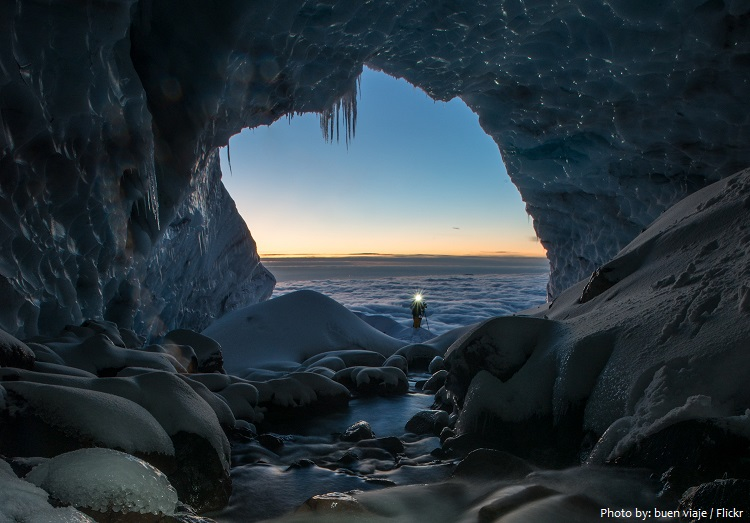 sandy glacier caves