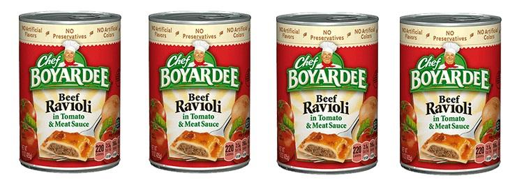 canned ravioli