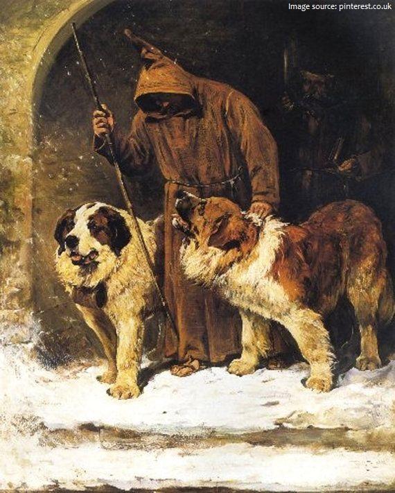St Bernard painting