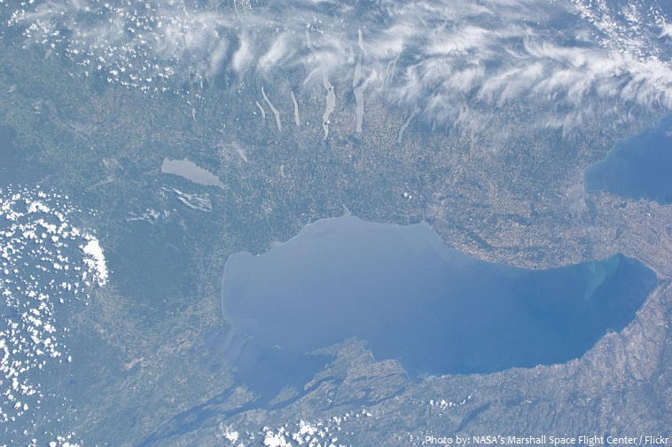 lake ontario from space
