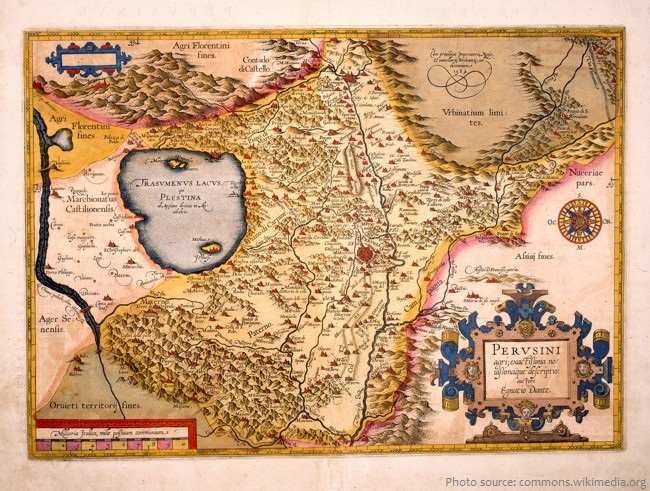 perugia history map