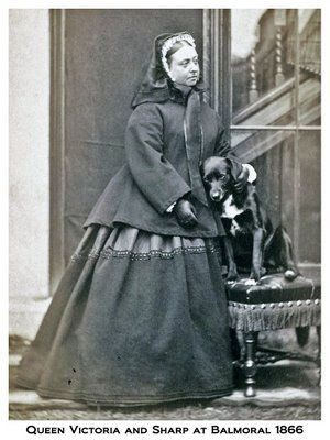 queen victoria and her border collie